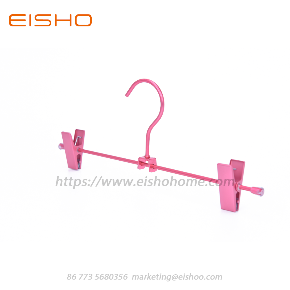Pants Hangers With Clips In Satin Finised Aluminum 11 8 1