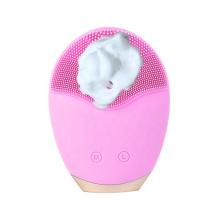 Limpiador ultrasónico de cepillo de silicona de limpieza facial eléctrica