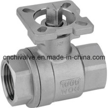 Stainless Steel Two Pieces Type High Mounting Pad Ball Valve