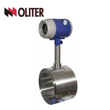 aço inoxidável inteligente frete grátis 4 ~ 20ma tipo fluxo medidor wafer conexão DN80 vortex flowmeter com display