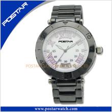 Reloj de cerámica de la moda del OEM de la venta global con el cristal de zafiro