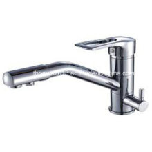 3 Way Kitchen Faucets with Pure Water Flow Filter Tap