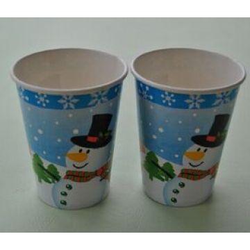 8oz de Natal frio e quente Copos de papel descartáveis