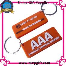 Porte-clés en plastique avec logo 2D