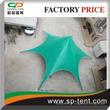 Tente en forme d'étoile verte / tente à grande exposition / tente de chapiteau