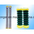 PVC recubierto de malla de alambre de enlace de cadena