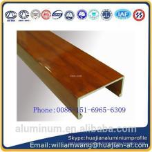 made in China wood finish windows aluminium profile