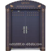 Seguridad anti-robo del diseño de Roma de la puerta doble de la entrada del acero de alto grado