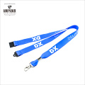 High Quality Smooth Satin Polyester Lanyard with Safety Break
