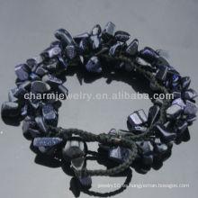 2013 Estilo De Moda Natural Sandstone Azul Estiramiento Brazaletes SB-0256