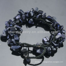 2013 Fashion Style Natural Blue Sandstone Stretch Bracelets SB-0256