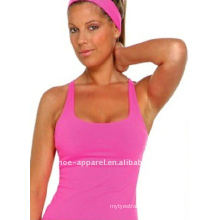 New design rose red yoga tank top for women,yoga fitness wear