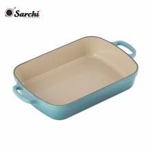 Bandeja para platos de hierro fundido de esmalte