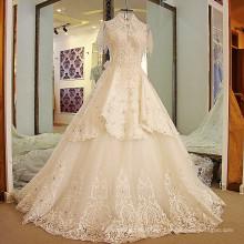 LS24770 Revestimento de cristais casaco camadas 2017 vestido de noiva de casamento 11.11 vestido de noiva de promoção