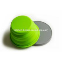 Таможня конструированная ранг еды упорная перемещать складчатое Eco содружественное Bowl любимчика силикона / Collapsible чашка кота собаки любимчика