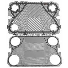 Placas y juntas de componentes del intercambiador de calor