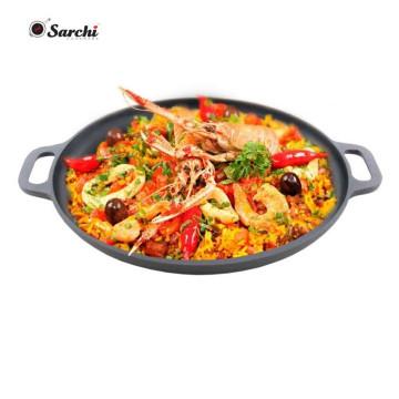 Ebay Hot Sale 14 pouces Round Black Cast Iron Pizza Pan