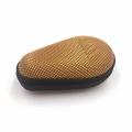 Boîtier de montre de voyage en cuir de fibre de carbone avec fermeture à glissière