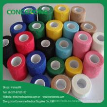 Vendaje elástico cohesivo no tejido médico coloreado