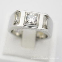 Concevez vos propres bijoux en argent Acier inoxydable bon marché Hommes Femmes Anneaux de fiançailles Diamants