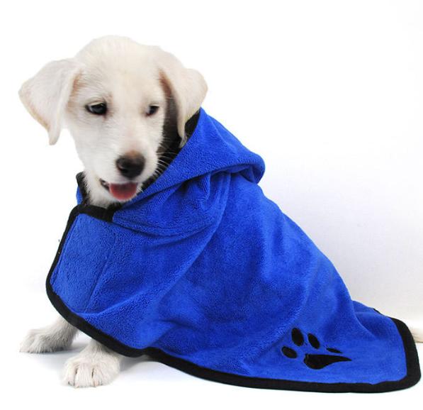 Hooded Pet Bathrobe