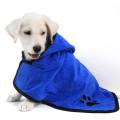 Blue Big Microfiber Absorbent Dog Bademantel