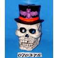 Halloween Decoration Ceramic Skull Tealight Candle Holder