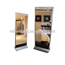 32inch floor stand digital signage totem , network mirror kiosk totem with CMS