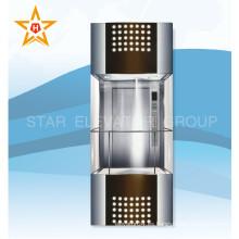 Producción rápida de vidrio panorámico de lujo ascensor comercial en China