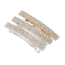 Bandeau fascia per capelli New Lady Rhinestone Hair Barrettes Fashion Accessories Hairpin Korean Clip Exquisite Spring Clip