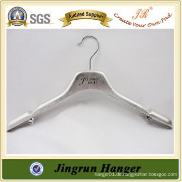 Nizza Silber Beschichtung Alibaba Versorgung Kunststoff Kleider Kleiderbügel für Jacke