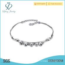 Простые серебряные браслеты, платиновый браслет для девочек