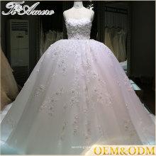 Robe femmes mariage pour dames Haute qualité puffy dentelle robe de mariée professionnel fait une grande robe de bal en ligne