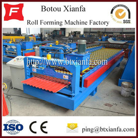 China Ridge Cap Roll Forming Machine Roof Glazed Tile