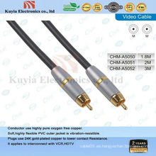 Componente de oro Cable AV para video y audio estéreo macho a cable macho