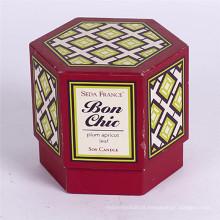 Caixa de embalagem de presente de hexágono de papelão de boa qualidade com tampa