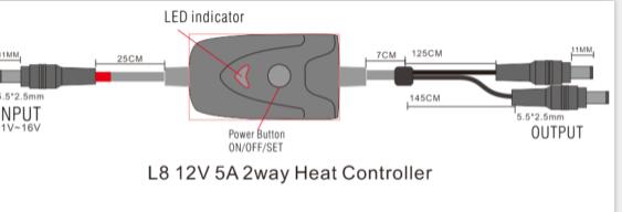 L8 12V5A 2W heat controller