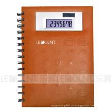 Große Größe 8-stellige Notebook-Rechner mit PVC-Frontabdeckung (LC563A)
