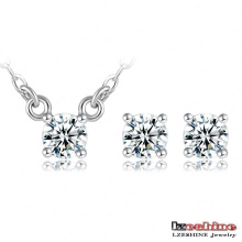 Ensembles de bijoux en cristal authentiques simples en usine (CST0007-B)