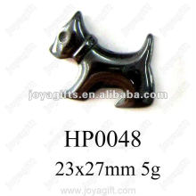Hematite Dog Pendants