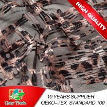 Nuevo diseño bordado cinturón con estilo de impresión leopardo