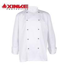 henan double-breasted hotel service de restauration unisexe chef uniforme manteau