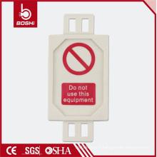 Étiquette d'échafaudage de nouvelle conception élastique pour étiquette de verrouillage, BD-P31 avec CE ROHS