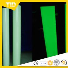Película luminiscente de alta calidad para seguridad guía, verde crecer cinta en la oscuridad