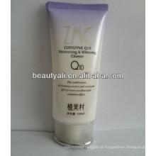 Embalagem cosmética do tubo da loção com parafuso na tampa