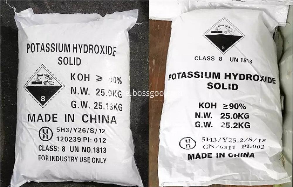 White Flakes 90% Potassium Hydroxide
