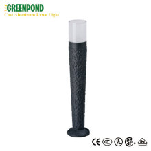 Aluminum Bollard Light With Transparent Top Cap