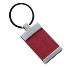Promoção metal PU couro chaveiro com logotipo personalizado (f3029)