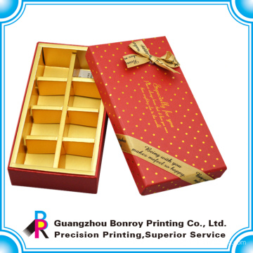 wholesale new design customized chocolate box with paper divider