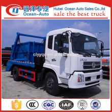 dongfeng kingrun 8cbm capacity of swing arm waste truck
